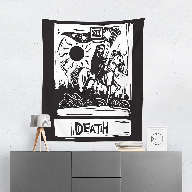 Amazon com: Tarot Card Tapestry Wall Hanging Death Horoscope