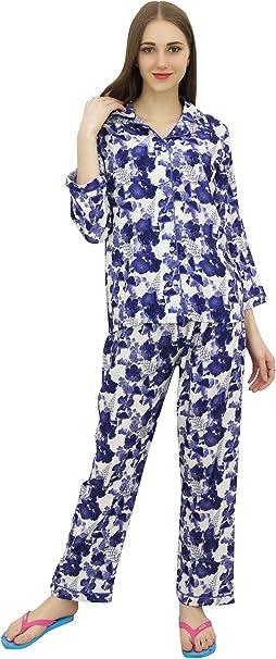 Bimba Camisa con Botones y Pijama Elastico de Cintura para Mujer 2 Piezas-: Amazon.es: Ropa y accesorios