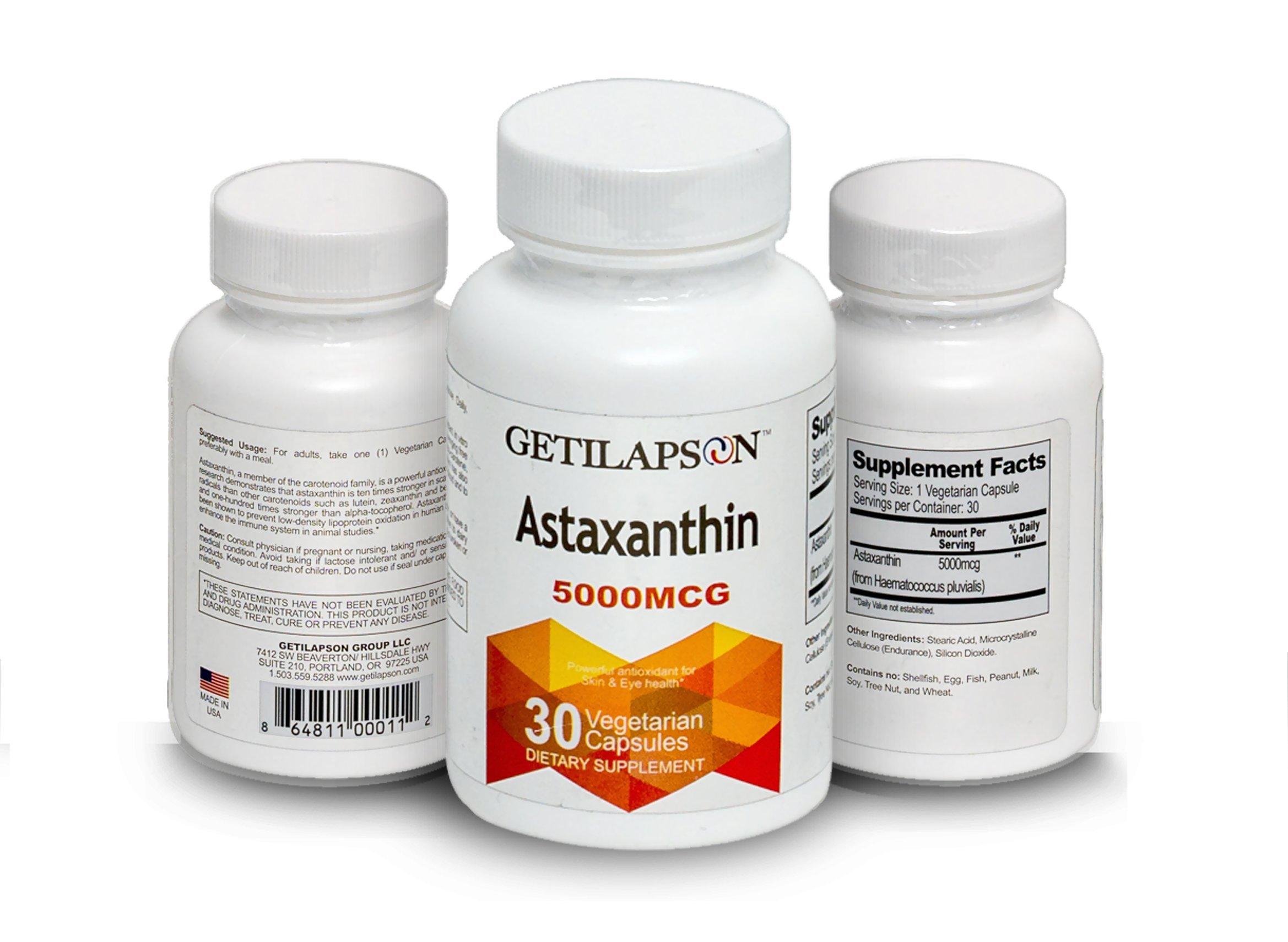 Getilapson Astaxanthin 5000mcg