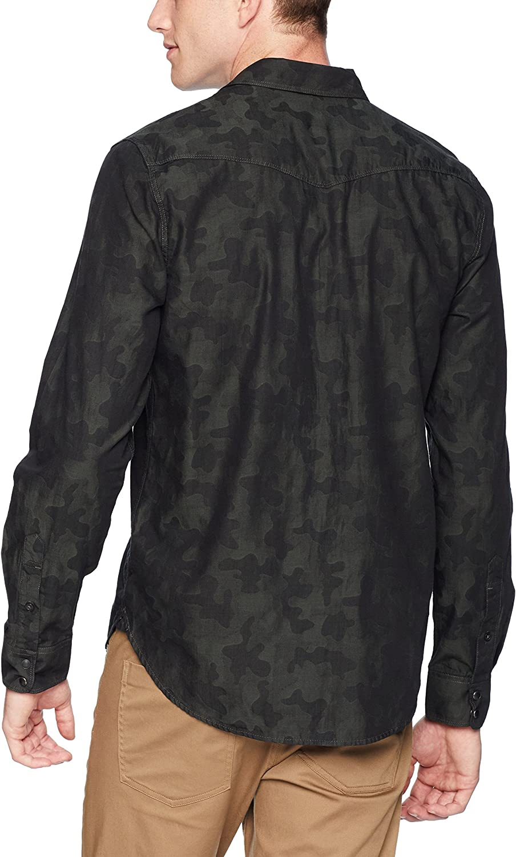 Lucky Brand Mens Casual Long Sleeve Camo Button Down Western Shirt