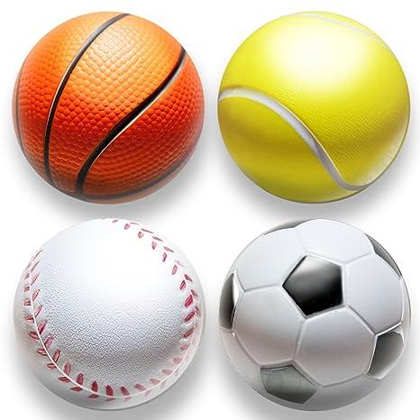 4stk | estrés pelota en mini Sport Diseño Anti estrés pelotas para reducción de estrés