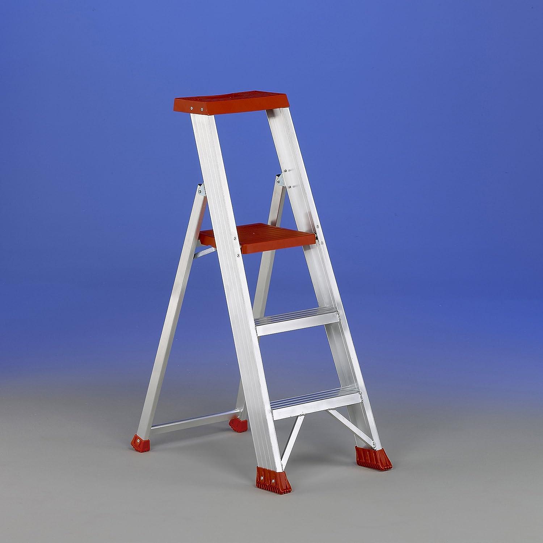 Svelt - Ulisse Super 2 Gradini. Pequeña escalera con 2 escalones, doble plataforma superior y estructura de apoyo y protección incorporada.: Amazon.es: Bricolaje y herramientas
