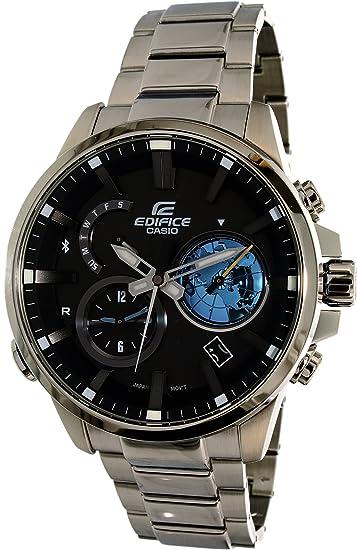 bbd12eda2312 Casio Orologio Cronografo Quarzo da Uomo con Cinturino in Acciaio Inox EQB-600D-1A2ER   Amazon.it  Orologi