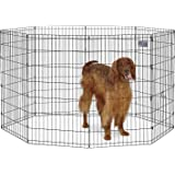 midwest homes for pets foldable metal exercise pen pet playpen 8 panels each