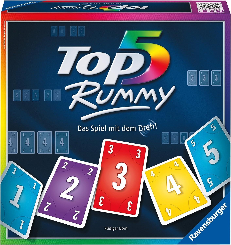 Ravensburger 26603 Top 5 Rummy - Juego de Mesa (Contenido en ...