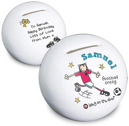 Personalizado Bang en la puerta de balón de fútbol Crazy de ...