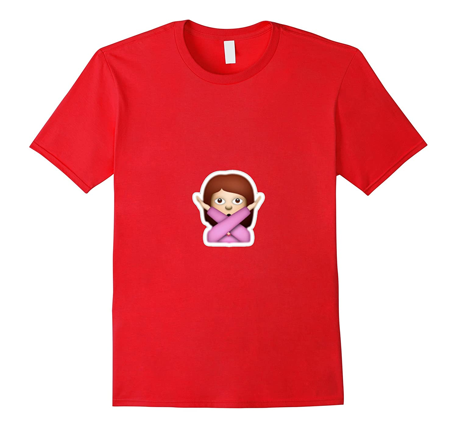 Girl Emoji Arms Crossed T-Shirt X Emoticon No Brunette Brown