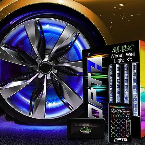 Amazon.com: OPT7 kit de luces LED Aura para ruedas, 3 en 1 ...