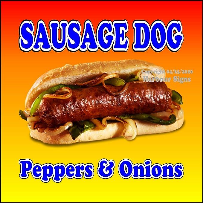 "Hot Dog Decal Concession Food Truck Cart Restaurant Vinyl Sticker Sign 12/"""