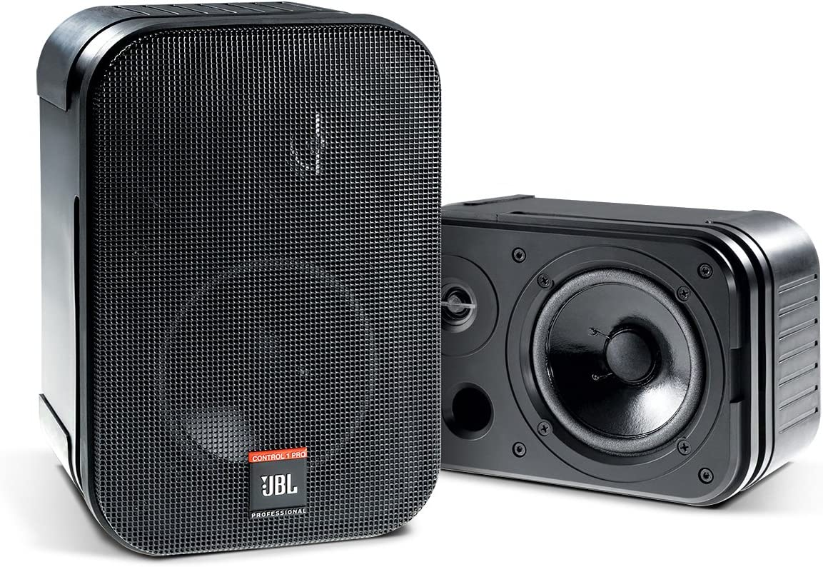 JBL Professional C1PRO High Performance 2-Way Professional Compact Loudspeaker System, Black , Sold as Pair