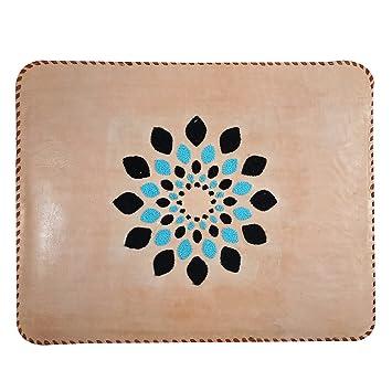 f340136dd55 Funda de Piel auténtica Bordada a Mano para Apple iPad y Funda de Viaje,  Organizador de Documentos, Carpeta, Organizador de Fotos de Piel, Bolsa de  Mano: ...