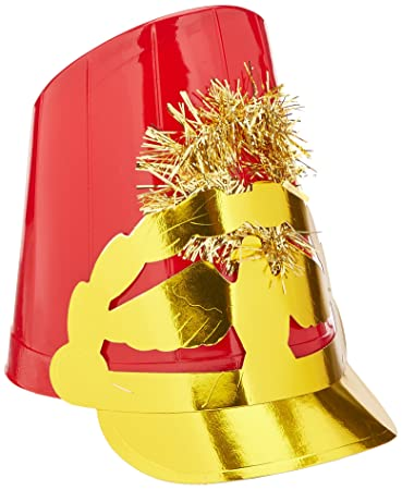 Plastic Drum Major Hats Asstd Colors Party Accessory 1 Count