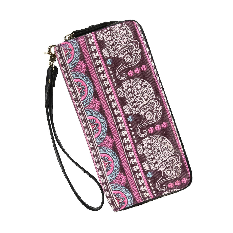 Wallets Clutch Women Bohemian - Zipper Phone Wristlet Wallet Purse With Handle