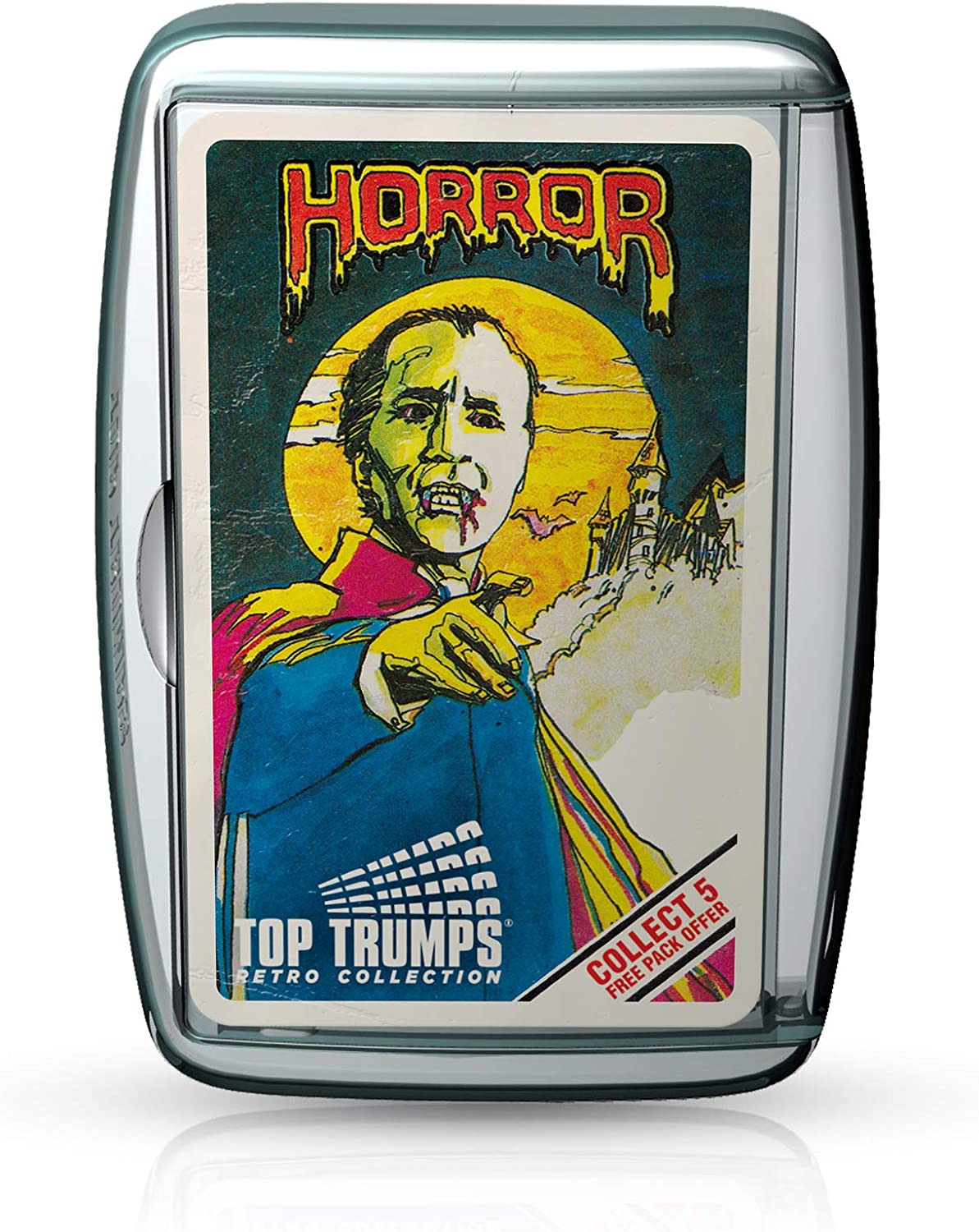 Horror 2020 Top Trumps Card Game w// Glow In The Dark Case