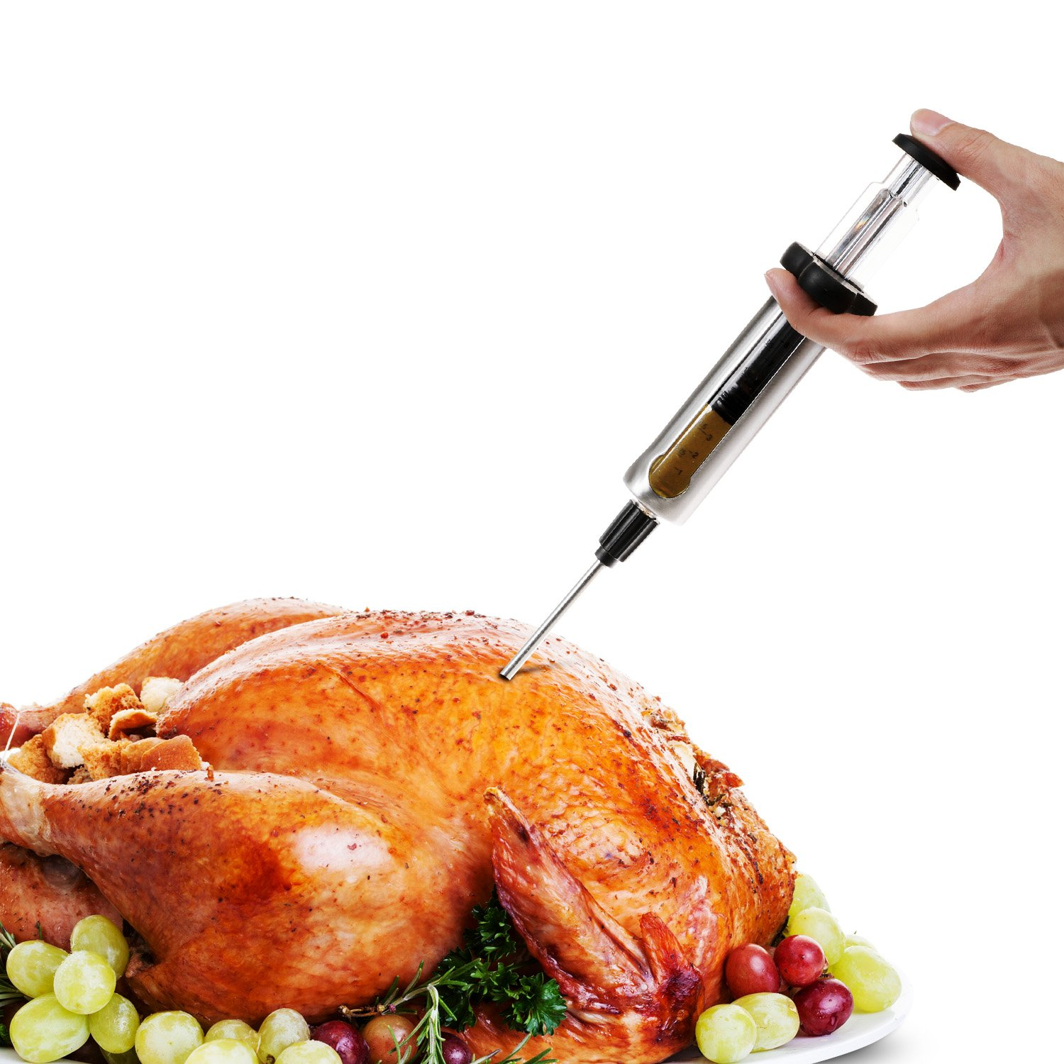 Miusco Stainless Steel Meat Injector Kit with Measurement Window and 2 Professional Marinade Needles by Miusco (Image #3)