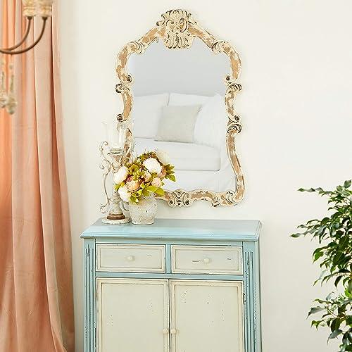 Deco 79 18197 Wood Wall Mirror