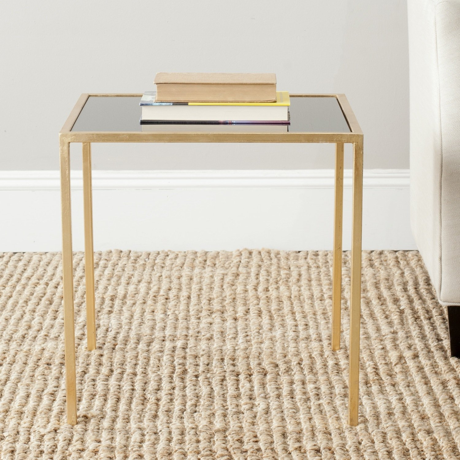side gold milla table accent small