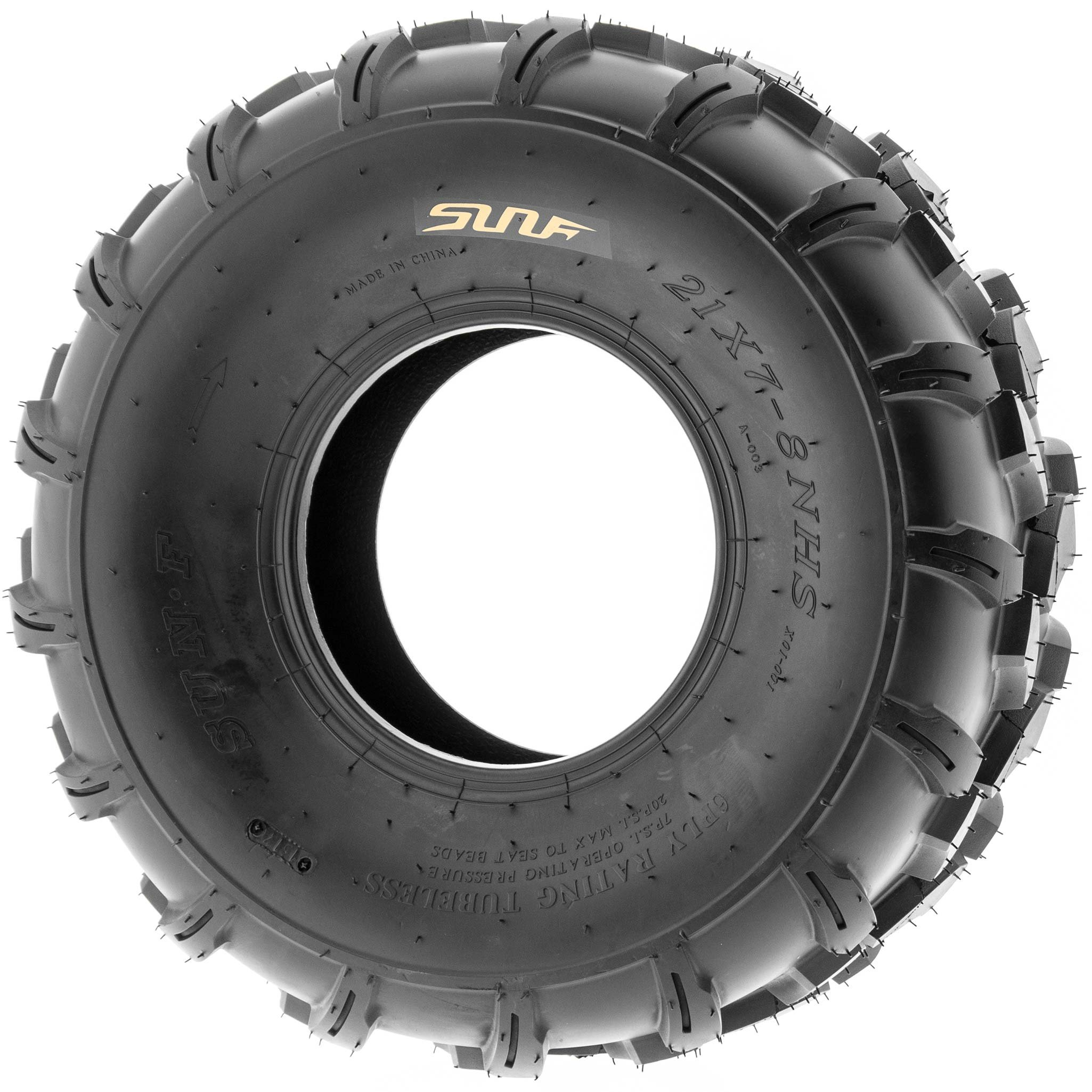 SunF 19x7-8 19x7x8 ATV UTV All Terrain Trail Replacement 6 PR Tubeless Tires A003, [Set of 2] by SUNF (Image #4)