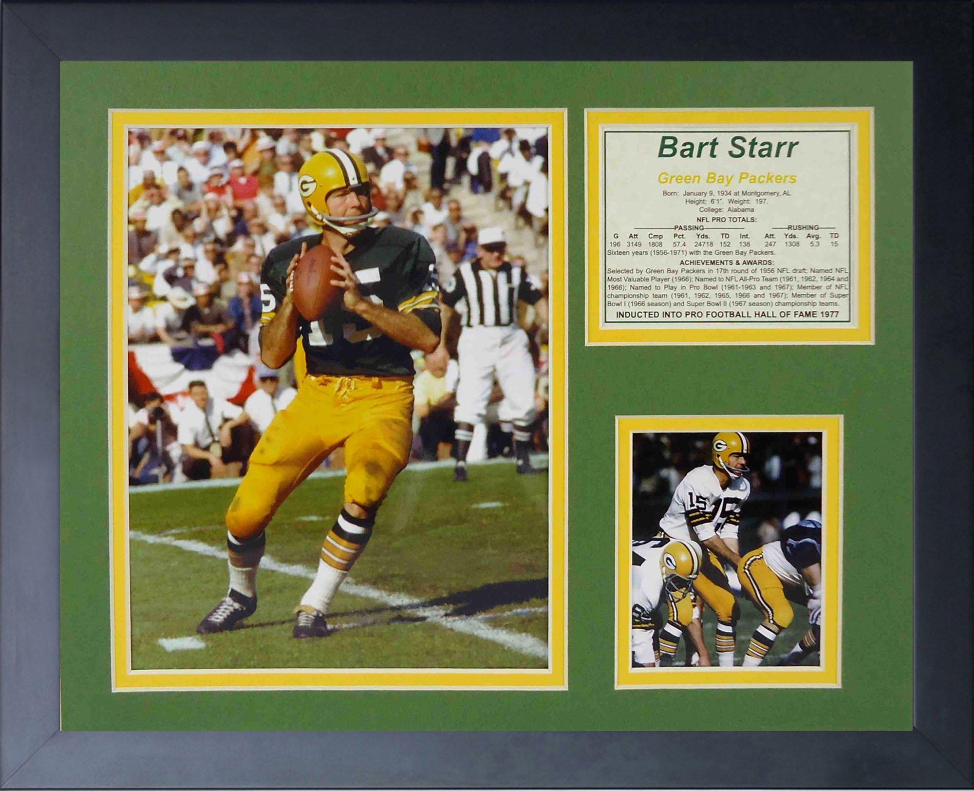 Legends Never Die Bart Starr Framed Photo Collage, 11x14-Inch by Legends Never Die
