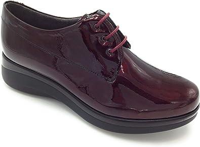 PITILLOS 5830 Zapato Cordones Charol Burdeos 36: Amazon.es