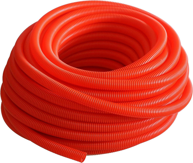 Absolute USA SLT12RD 1//2-Inch x 100-Feet Split Loom Tube Red