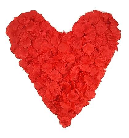500 rote Rosenblätter, rot - Hochzeitsdeko, Valentinstag, Heiratsantrag, Romantisch, Candlelightdinner, Streudeko, Basteln, H