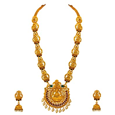 Buy Atasi International Gold Plated Jewellery Set For Women Copper Aglk73 At Amazon In