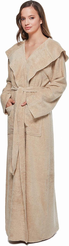 Arus - Albornoz de Mujer con Capucha, Beige, XL: Amazon.es: Ropa y ...