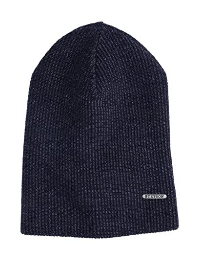 db635db872531 Stetson 0 Beanie Long Beanie Wool Mélange - Blue - One Size  Amazon ...