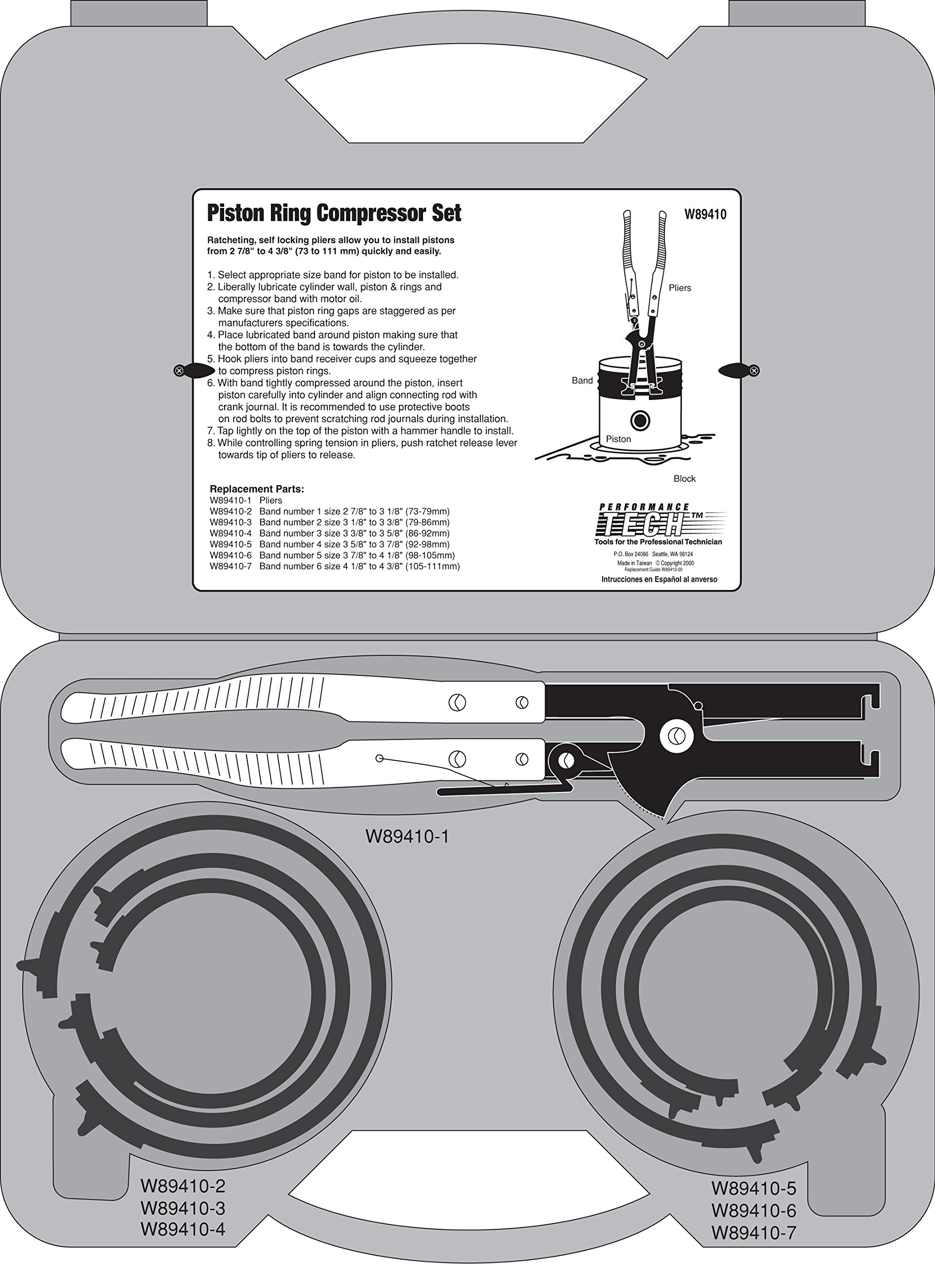 Performance Tool W89410 Piston Ring Compressor Set by Performance Tool (Image #3)