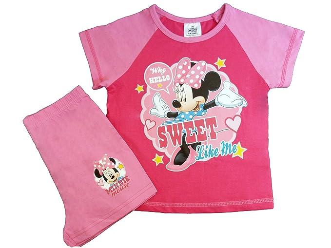 Pantalón corto Disney Minnie Mouse ropa de descanso para niñas pijama conjunto de cinta y: Amazon.es: Ropa y accesorios