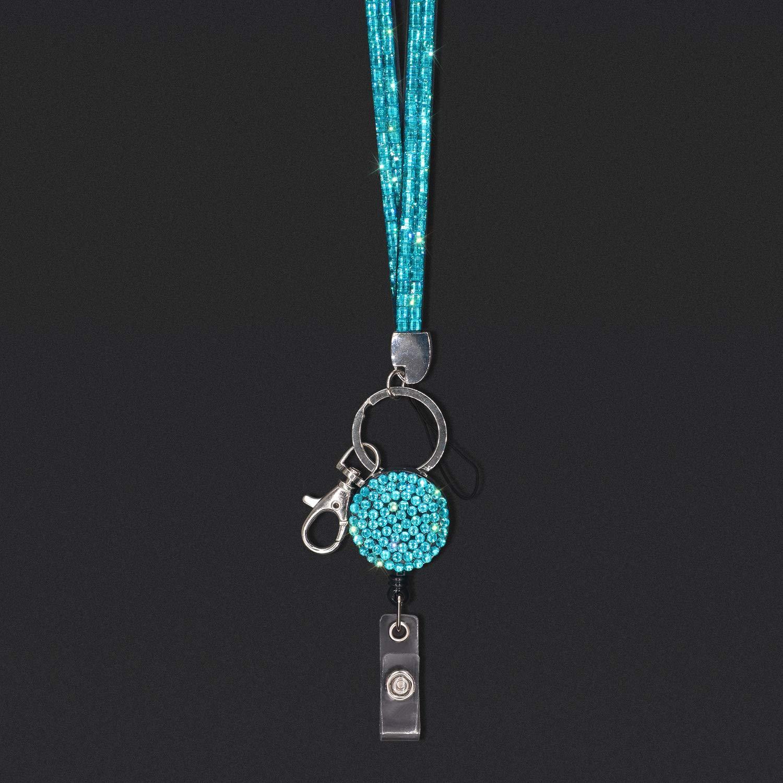 Arancia Chiavi ECC. USB Soleebee Lanyards 80cm Bling Cristallo Pelle Collo Cordini Cinghie per Porta Badge Retrattile per Carte di identit/à Impiegati Carta dello Studente