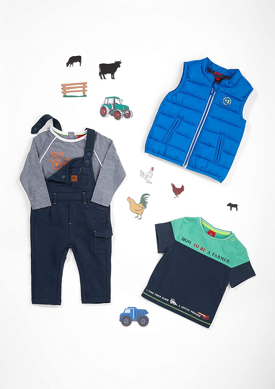 s.Oliver RED LABEL Unisex Baby Wattierte Steppweste in Unicolor dark blue 68