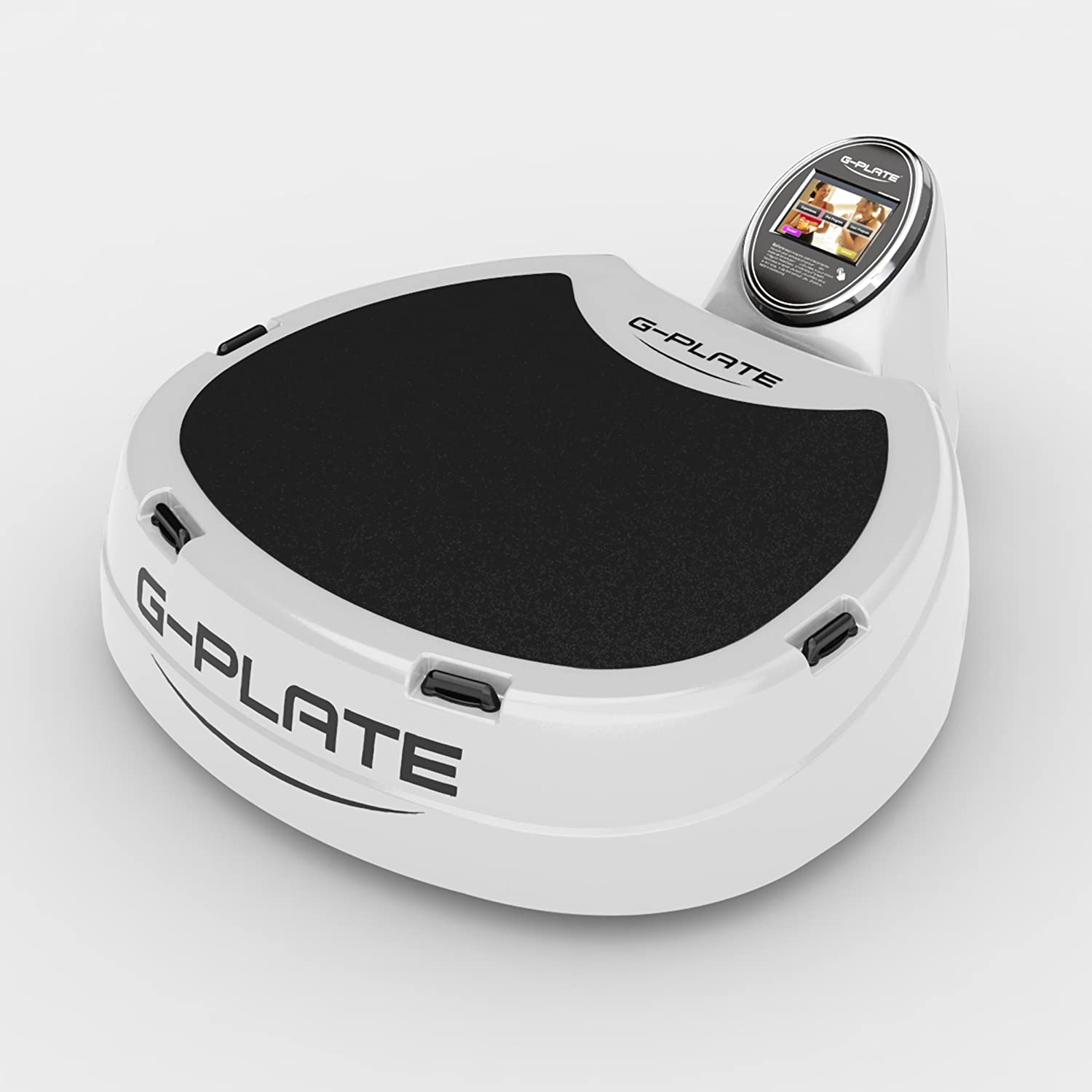 Vibrationsplatte G-Plate Professionell DPS Dual Power Suspension High End Weiß-Weiß Ohne Säule