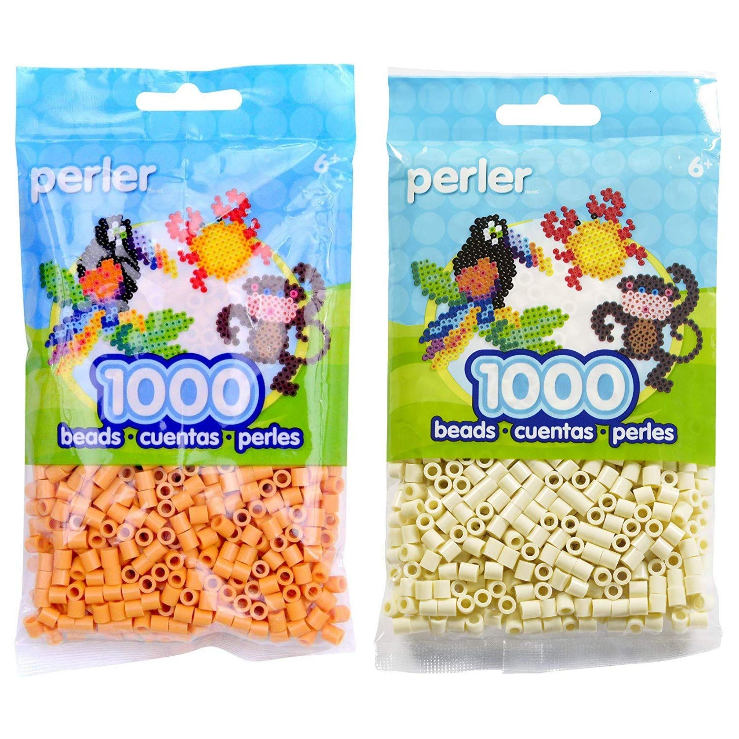 Canutillos Beads 2000 Unidades (pack X2) Butterscotch/creme