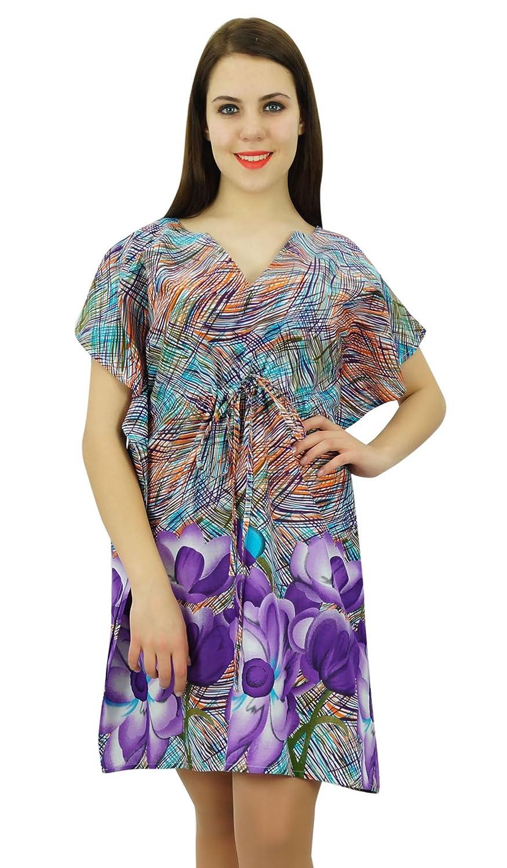 e509a95145 Phagun Kaftan Cotton Bohemian Abstract Printed Caftan Dress Short Maxi  Nightwear: Amazon.ca: Clothing & Accessories