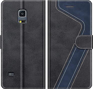 MOBESV Funda para Samsung Galaxy S5 Mini, Funda Libro Samsung S5 Mini, Funda Móvil Samsung Galaxy S5 Mini Magnético Carcasa para Samsung Galaxy S5 Mini Funda con Tapa, Negro: Amazon.es: Electrónica