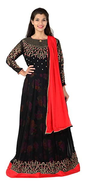 1a4ded0149b Image Unavailable. Image not available for. Colour  mr crozy Women s Faux Georgette  Semi-Stitched Salwar Suit Material ...