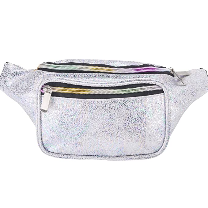 Miracu Holographic Neon Fanny Packs for Women 764b16772