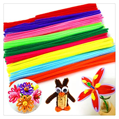 100 Pcs Pipe Cleaners Assorted Colors Art Crafts Chenille Stems for DIY Craft Projects Decoration Supplies Children's Bendable Sculpting Sticks (Multicolor): Arts, Crafts & Sewing