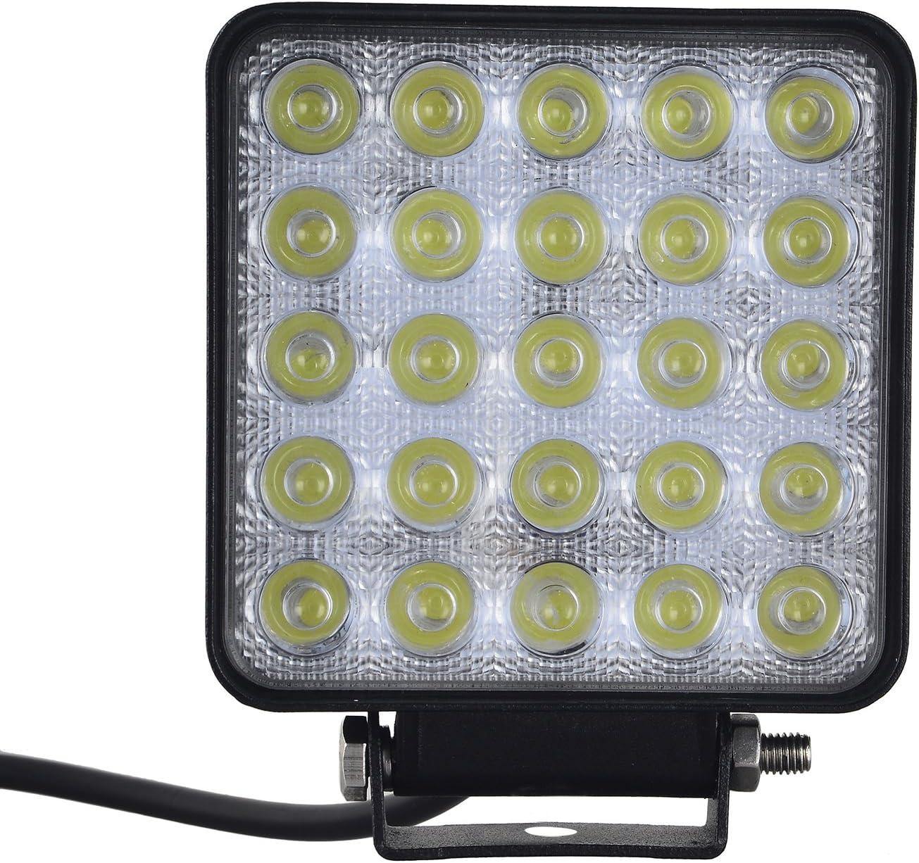 sundautumn 75/W Phare de travail carre a LED Angle de 60//¡/ã DC 12/V 24/V Offroad Quad Tracteur camion bateau /étanche