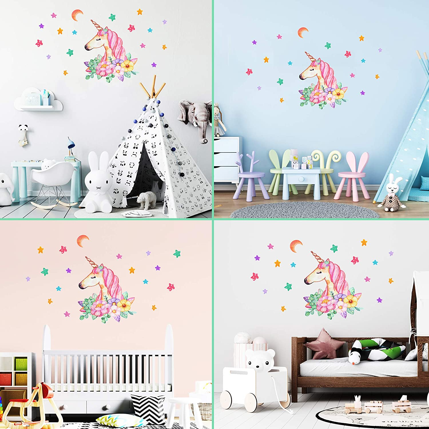 16X20//28X39 Diamond Painting Art Kits for Kids Beginners Cute Unicorn Wall Decor Stickers for Girls Bedroom Christmas Birthday Gifts for Girls Kids Fun DIY Paint with Gem Dots for Teens Easy