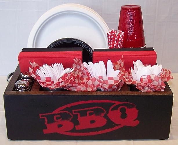 Red \u0026 Black BBQ Utensil Organizer Holder Storage for Parties or Kitchen Utensil Caddy & Amazon.com: Red \u0026 Black BBQ Utensil Organizer Holder Storage for ...