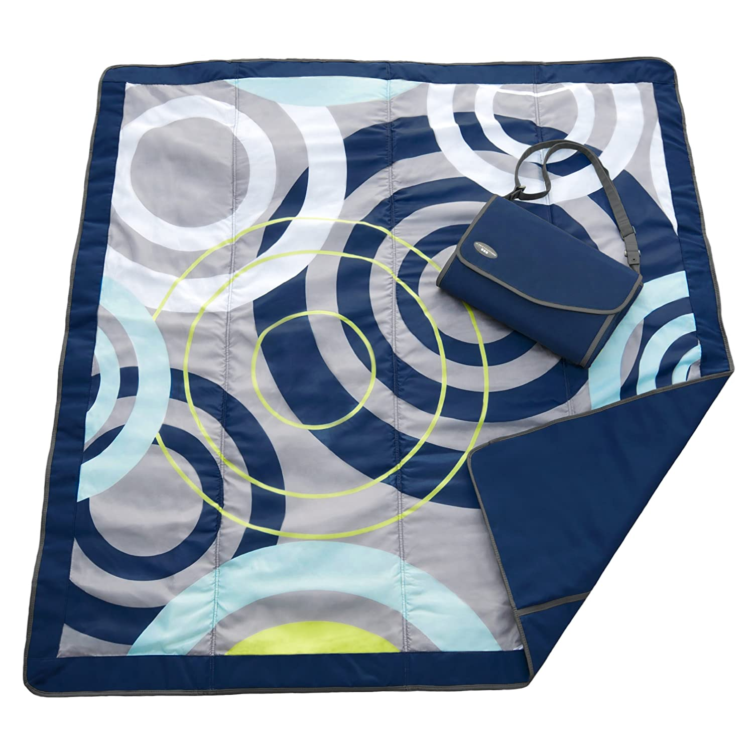 Jj Cole Outdoor Blanket, 7'X'5 Blue Orbit