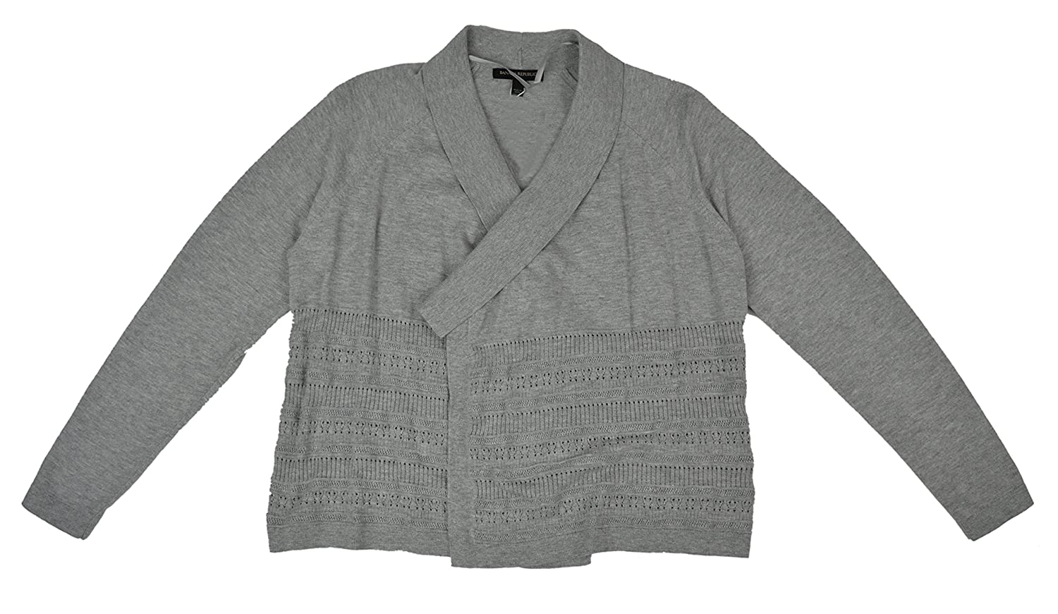 9226143b199 Amazon.com  Banana Republic Women s Stitch Pointelle Cardigan Sweater Light  Heather Grey Small  Clothing