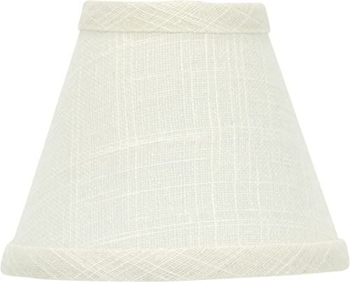 Upgradelights White Linen Lampshade Replacement with Washer Fitter 6x12x8