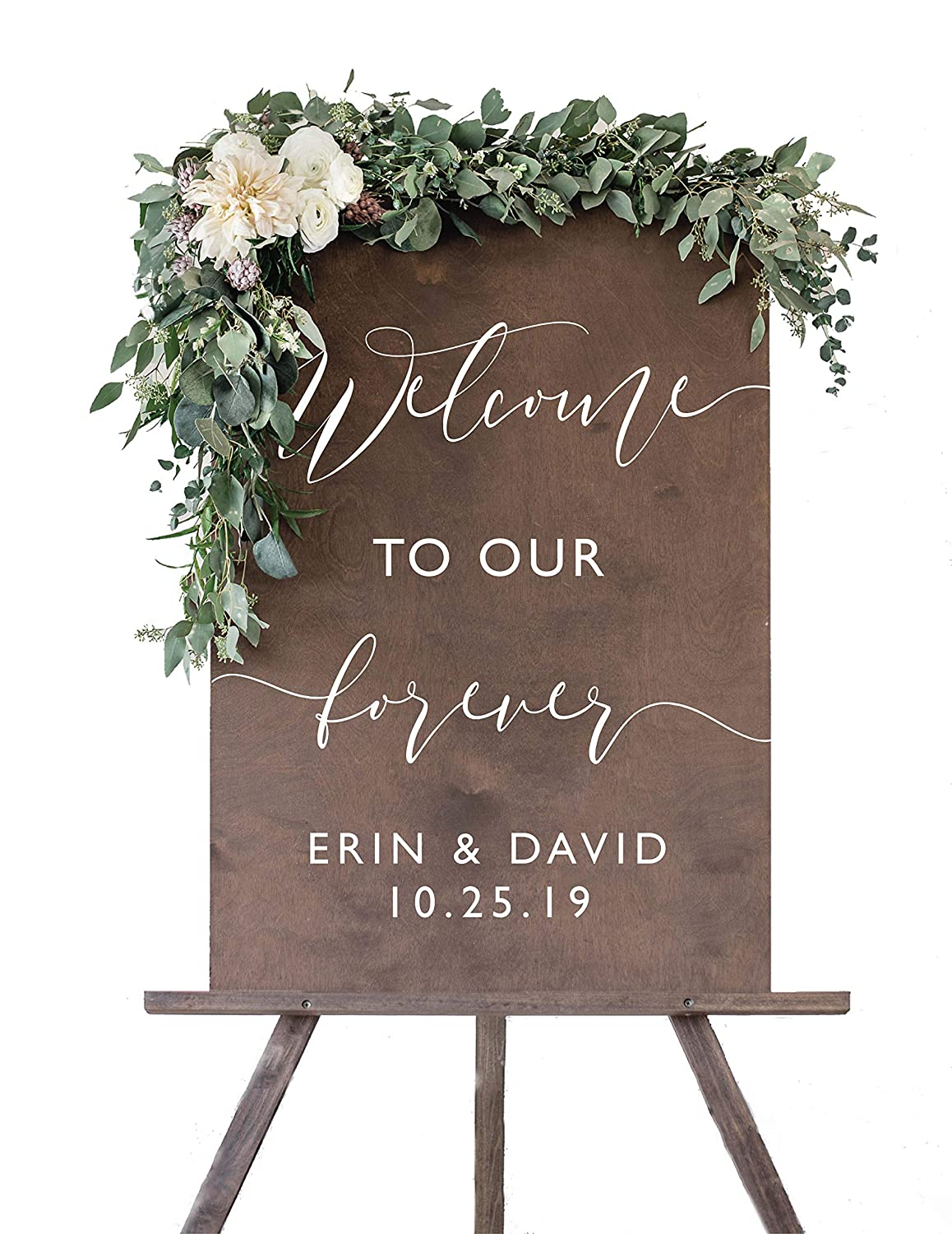 Rustic Wedding Welcome Sign  Wood Rustic Welcome to our Forever Wedding  Sign  Welcome Wedding Signs  Wooden Wedding Signs - WS-8