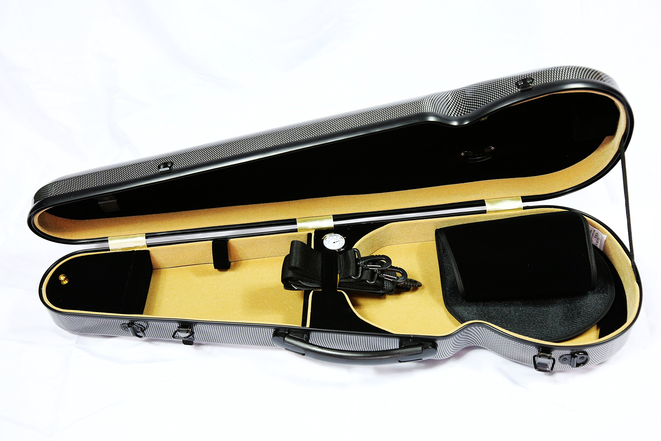 Vio Music Hightech Full Size Carbon Violin Case 4/4, New Design
