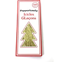 PEPPERLONELY 2000 Strands Icicles Tinsel Tree Christmas Decorations, Gold