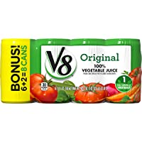 Deals on 48-Pack V8 Original 100% Vegetable Juice 5.5 oz. Can